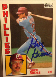Greg Gross Autographed 1984 Topps #613