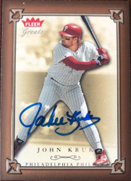 John Kruk Autographed 2004 Fleer Greats of the Game #87