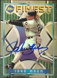 John Kruk Autographed 1995 Topps Finest #319