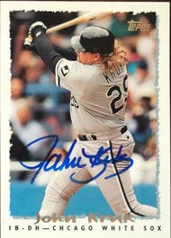 John Kruk Autographed 1995 Topps Traded #116T