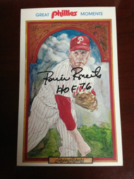 Robin Roberts Autographed 1983 Phillies Nostalgia Nights Postcard
