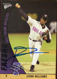 Jerome Williams Autographed 2003 Multi Ad Sports Fresno Grizzlies #1