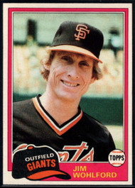 1981 Topps #11 Jim Wohlford DP VG San Francisco Giants