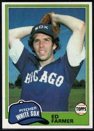 1981 Topps #36 Ed Farmer VG Chicago White Sox