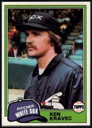 1981 Topps #67 Ken Kravec VG Chicago White Sox