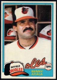 1981 Topps #101 Benny Ayala VG Baltimore Orioles