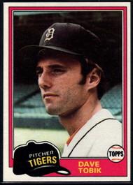 1981 Topps #102 Dave Tobik VG Detroit Tigers