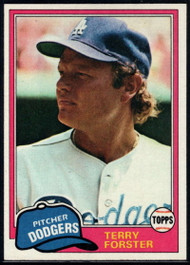 1981 Topps #104 Terry Forster VG Los Angeles Dodgers