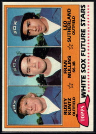 1981 Topps #112 Rusty Kuntz/Fran Mullins/Leo Sutherland White Sox Rookies VG RC Rookie Chicago White Sox