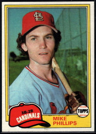 1981 Topps #113 Mike Phillips VG St. Louis Cardinals