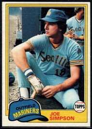 1981 Topps #116 Joe Simpson VG Seattle Mariners