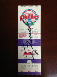 Terry Mulholland Autographed No-Hitter Ticket