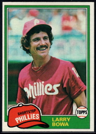 1981 Topps #120 Larry Bowa VG Philadelphia Phillies