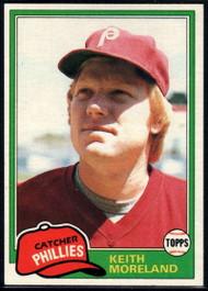 1981 Topps #131 Keith Moreland VG RC Rookie Philadelphia Phillies