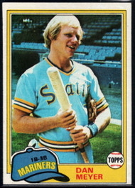 1981 Topps #143 Dan Meyer VG Seattle Mariners