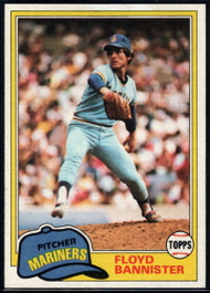 1981 Topps #166 Floyd Bannister VG Seattle Mariners
