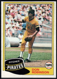1981 Topps #168 Don Robinson DP VG Pittsburgh Pirates