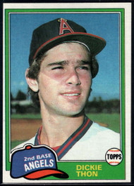 1981 Topps #209 Dickie Thon DP VG California Angels