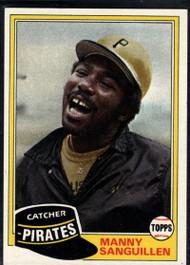 1981 Topps #226 Manny Sanguillen DP VG Pittsburgh Pirates