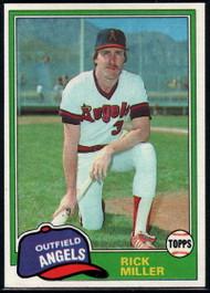 1981 Topps #239 Rick Miller DP VG California Angels