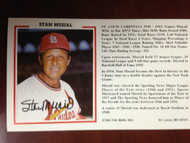 Stan Musial Autographed Stan the Man Postcard
