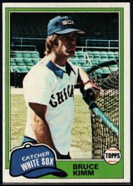 1981 Topps #272 Bruce Kimm VG Chicago White Sox