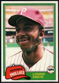 1981 Topps #317 Lonnie Smith VG Philadelphia Phillies