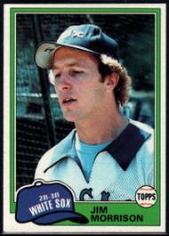 1981 Topps #323 Jim Morrison DP VG Chicago White Sox