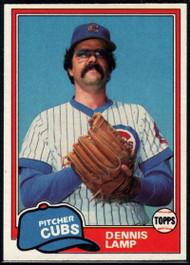 1981 Topps #331 Dennis Lamp VG Chicago Cubs