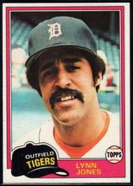 1981 Topps #337 Lynn Jones VG Detroit Tigers
