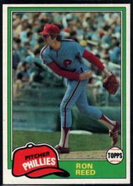1981 Topps #376 Ron Reed VG Philadelphia Phillies