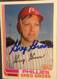 Greg Gross Autographed 1982 Topps #53