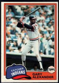 1981 Topps #416 Gary Alexander VG Cleveland Indians