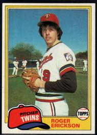 1981 Topps #434 Roger Erickson VG Minnesota Twins