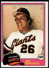 1981 Topps #438 John Montefusco VG San Francisco Giants