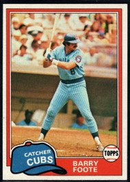 1981 Topps #492 Barry Foote VG Chicago Cubs