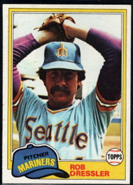 1981 Topps #508 Rob Dressler VG Seattle Mariners