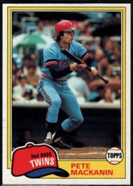 1981 Topps #509 Pete Mackanin VG Minnesota Twins