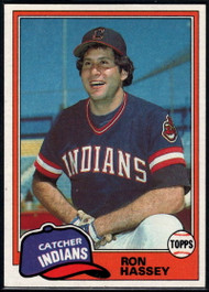 1981 Topps #564 Ron Hassey DP VG Cleveland Indians