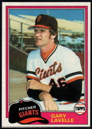 1981 Topps #588 Gary Lavelle VG San Francisco Giants