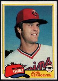 1981 Topps #603 John Verhoeven VG Minnesota Twins