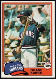 1981 Topps #612 Duane Kuiper VG Cleveland Indians