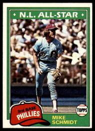 1981 Topps #540 Mike Schmidt DP VG Philadelphia Phillies