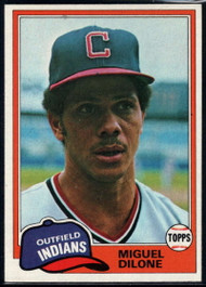 1981 Topps #141 Miguel Dilone VG Cleveland Indians