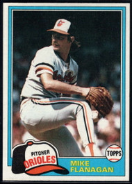 1981 Topps #10 Mike Flanagan VG Baltimore Orioles