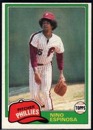 1981 Topps #405 Nino Espinosa VG Philadelphia Phillies