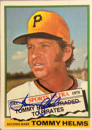 Tommy Helms Autographed 1976 Topps #583T