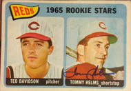 Tommy Helms Autographed 1965 Topps #243 Rookie Card
