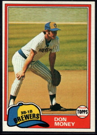 1981 Topps #106 Don Money VG Milwaukee Brewers