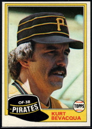 1981 Topps #118 Kurt Bevacqua VG Pittsburgh Pirates